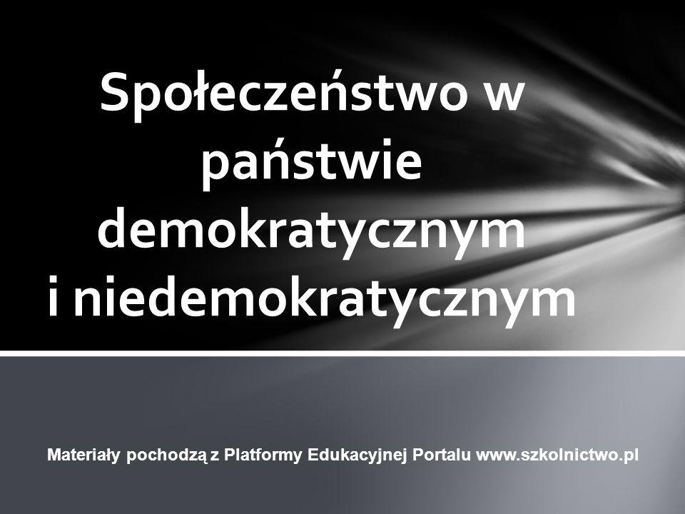 Społeczeństwo w państwie demokratycznym i niedemokratycznym