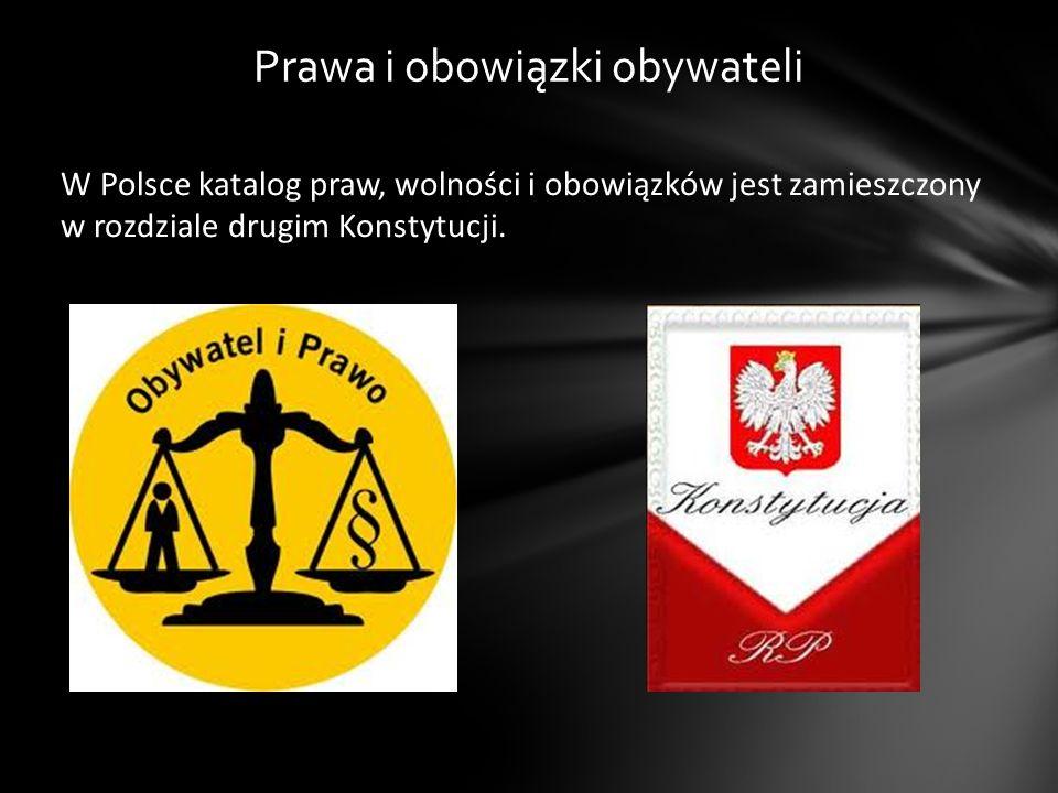 Prawa i obowiązki obywateli