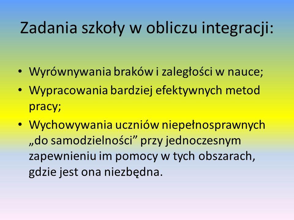 Zadania szkoły w obliczu integracji: