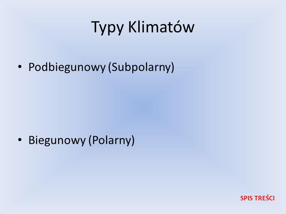 Typy Klimatów Podbiegunowy (Subpolarny) Biegunowy (Polarny)