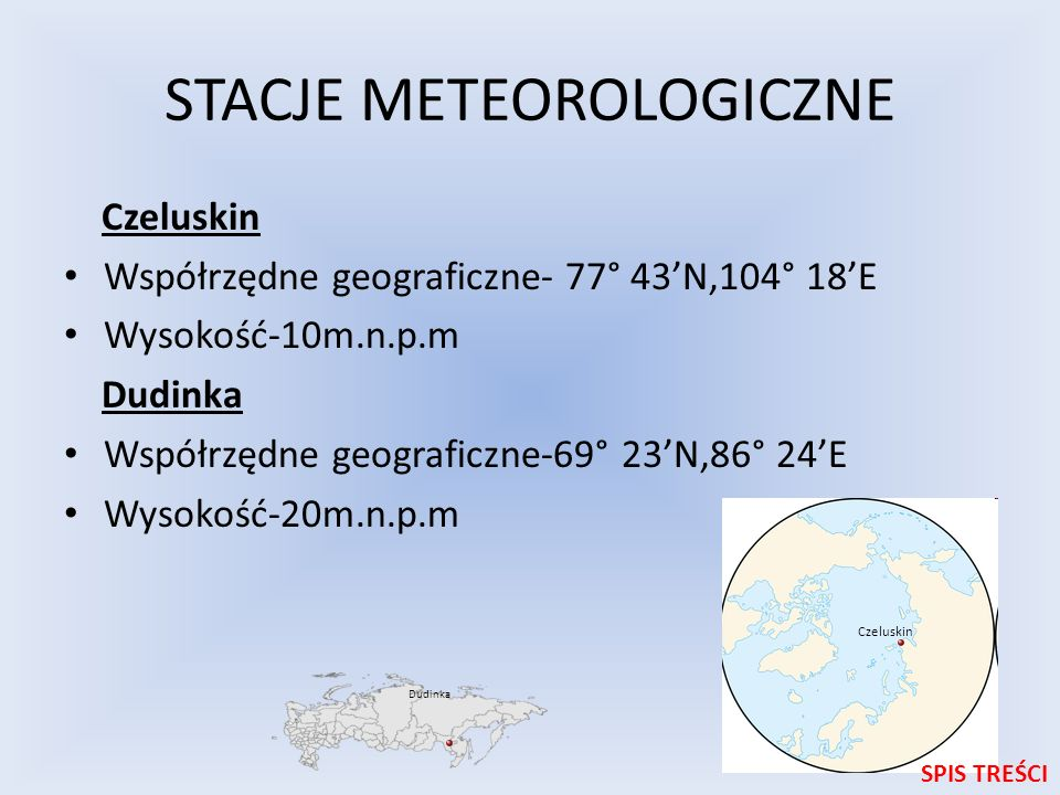 STACJE METEOROLOGICZNE