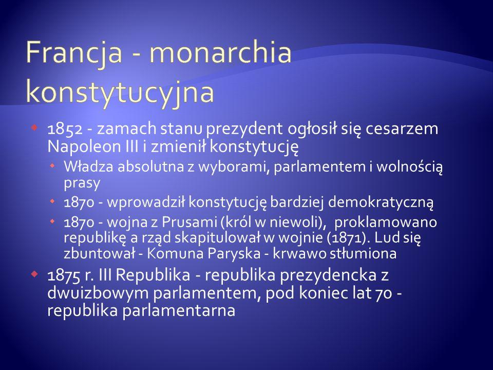 Francja - monarchia konstytucyjna