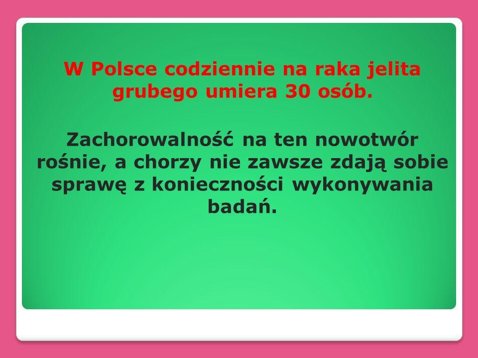 W Polsce codziennie na raka jelita grubego umiera 30 osób