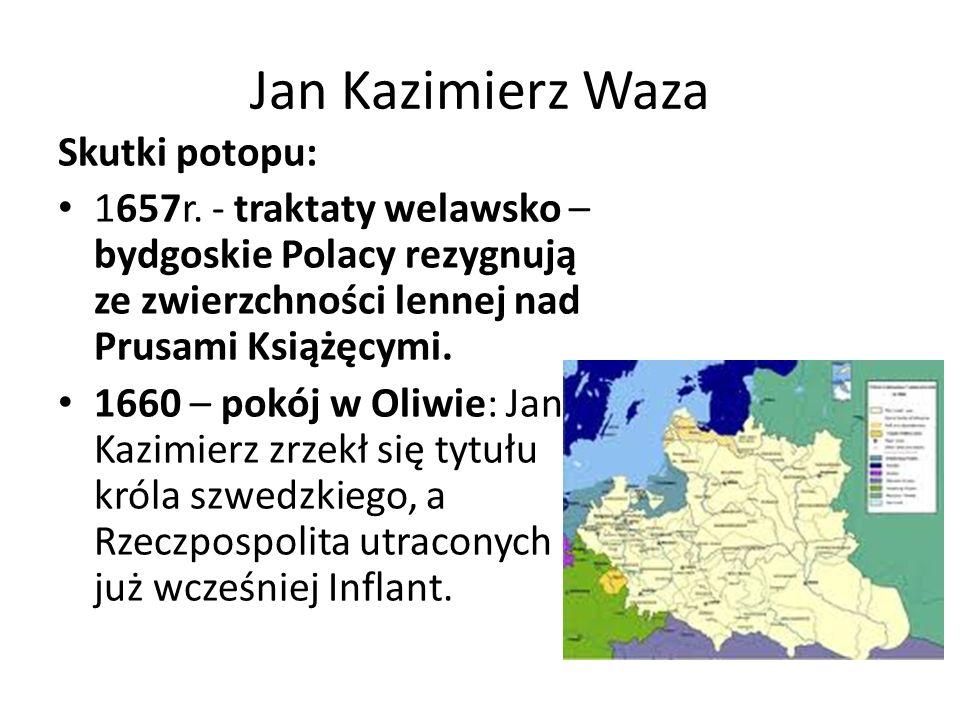 Jan Kazimierz Waza Skutki potopu:
