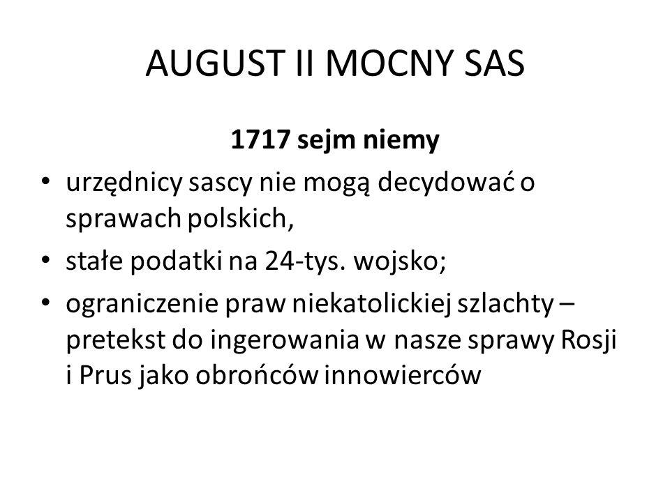 AUGUST II MOCNY SAS 1717 sejm niemy