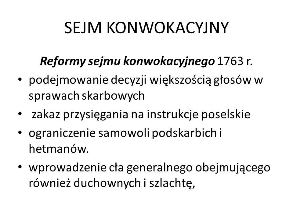 Reformy sejmu konwokacyjnego 1763 r.