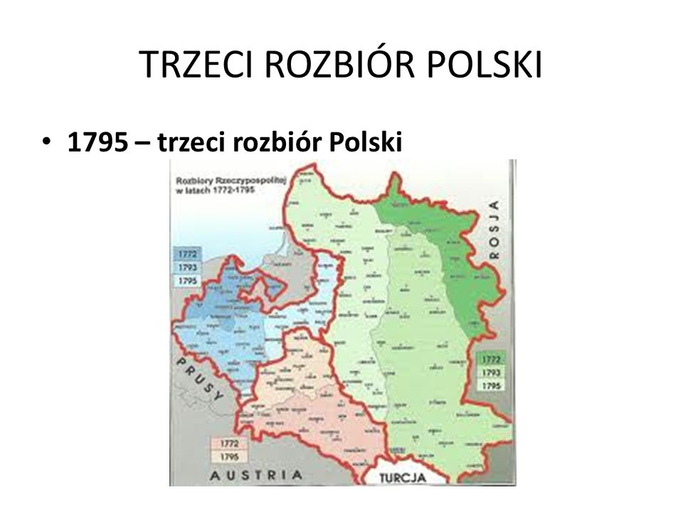 TRZECI ROZBIÓR POLSKI 1795 – trzeci rozbiór Polski