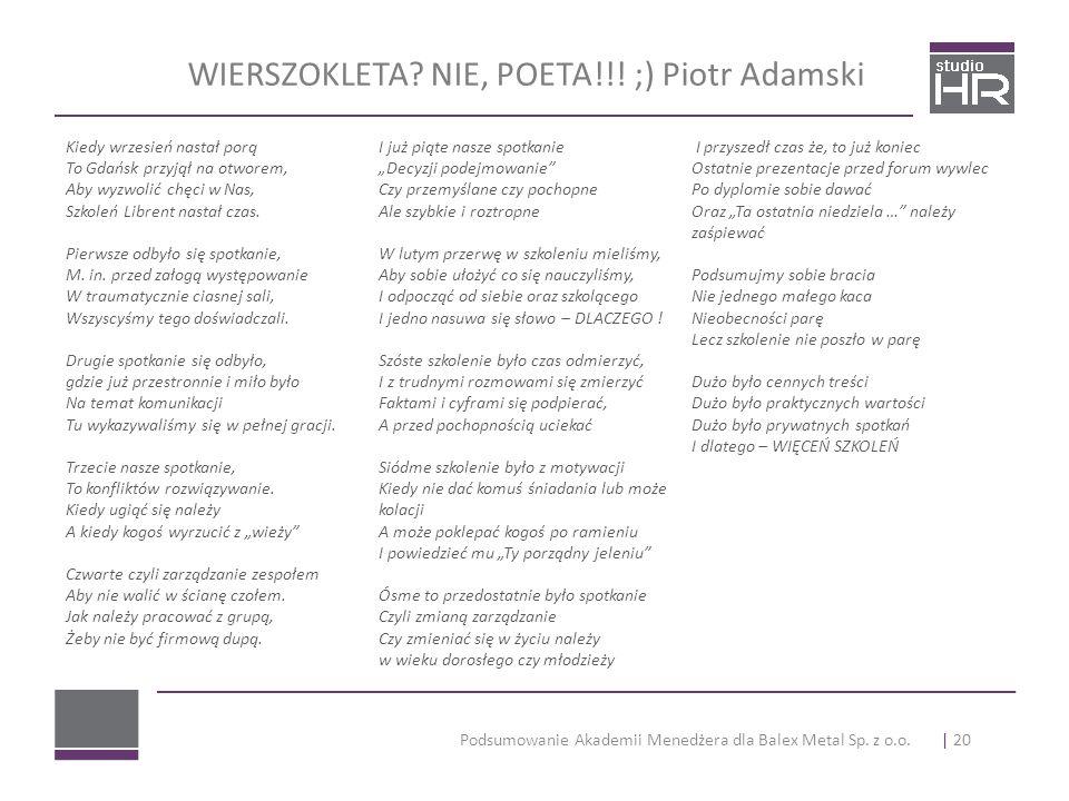 WIERSZOKLETA NIE, POETA!!! ;) Piotr Adamski