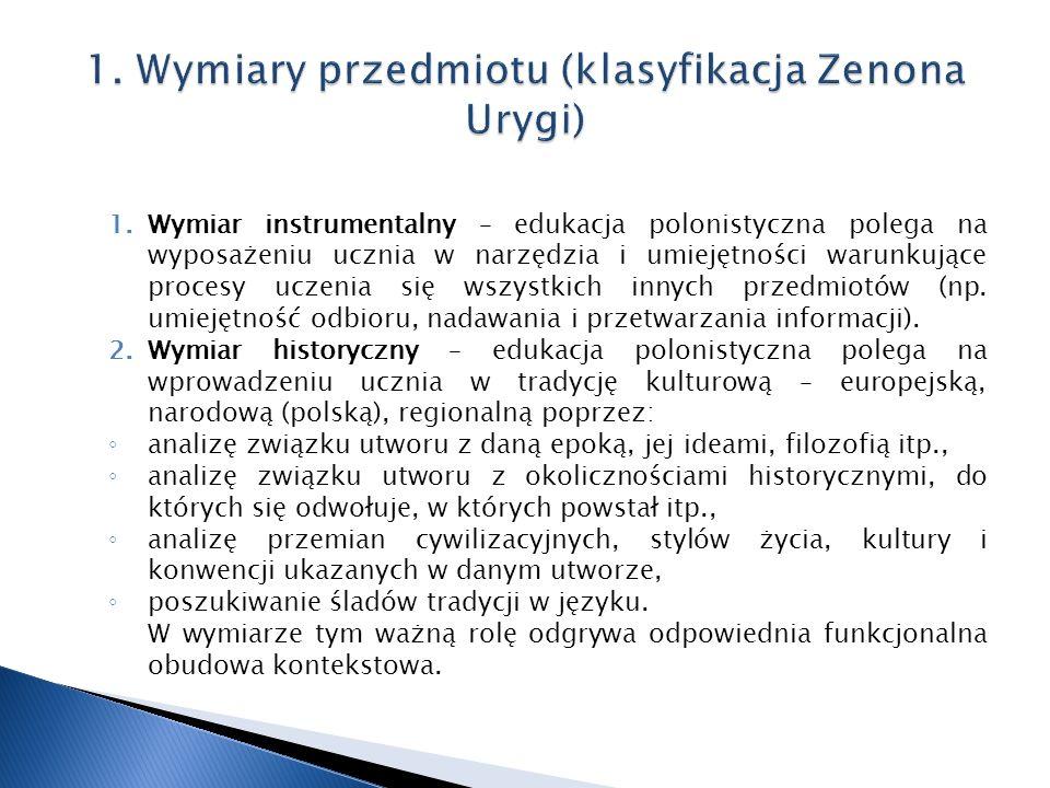 1. Wymiary przedmiotu (klasyfikacja Zenona Urygi)