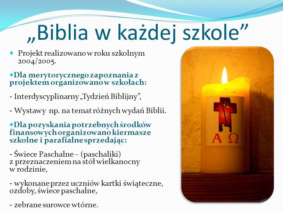 """""""Biblia w każdej szkole"""