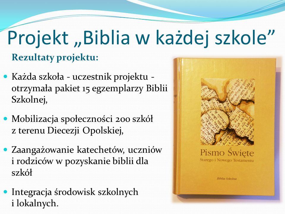 """Projekt """"Biblia w każdej szkole"""