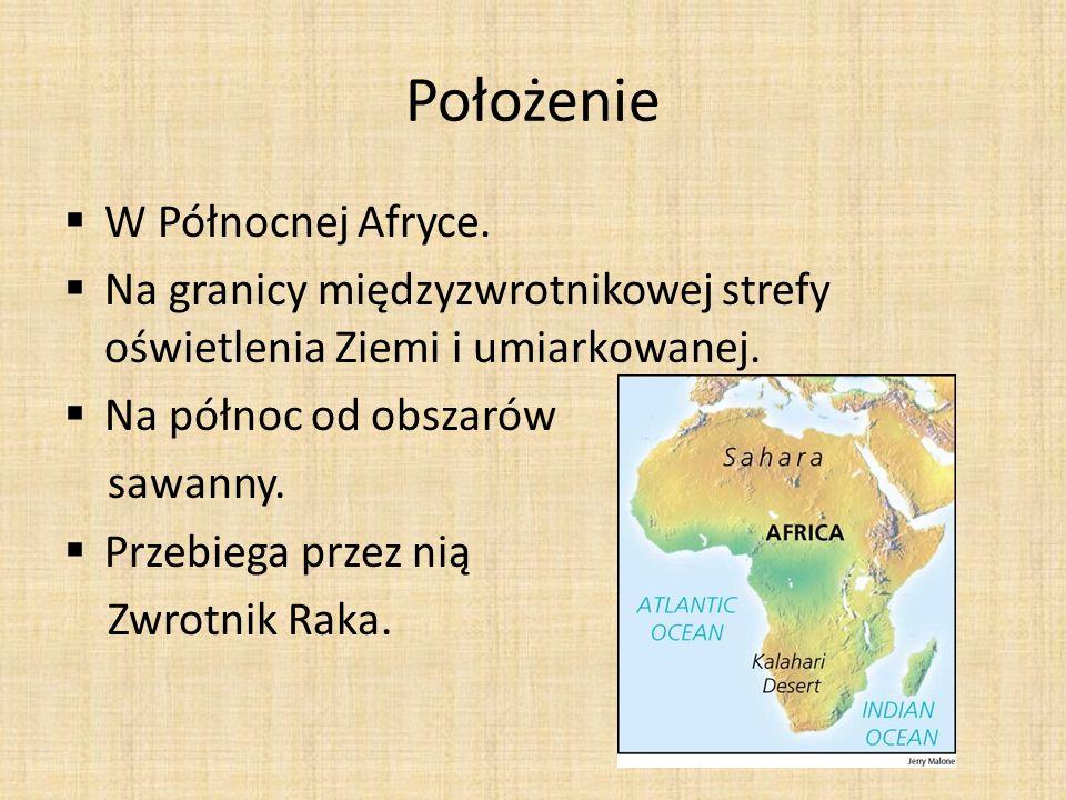 Położenie W Północnej Afryce.