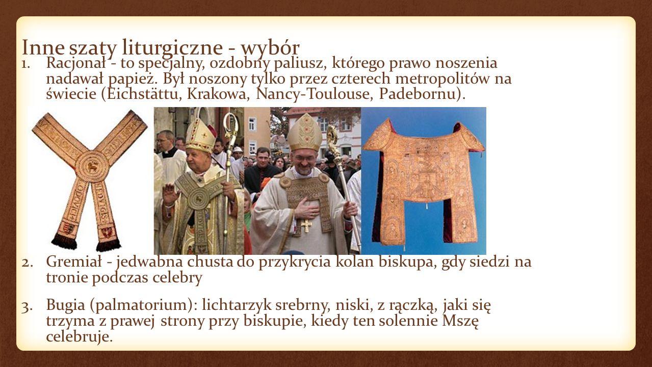 Inne szaty liturgiczne - wybór