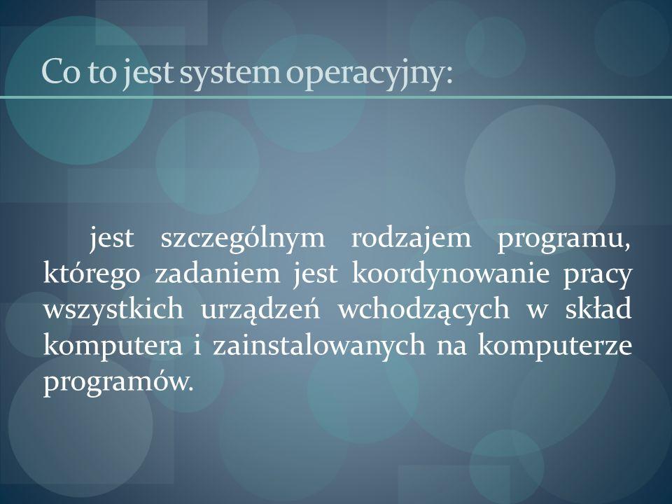 Co to jest system operacyjny:
