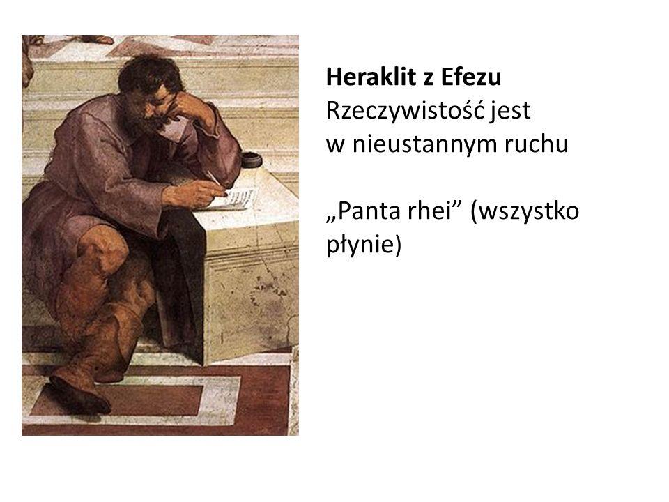 """Heraklit z Efezu Rzeczywistość jest w nieustannym ruchu """"Panta rhei (wszystko płynie)"""