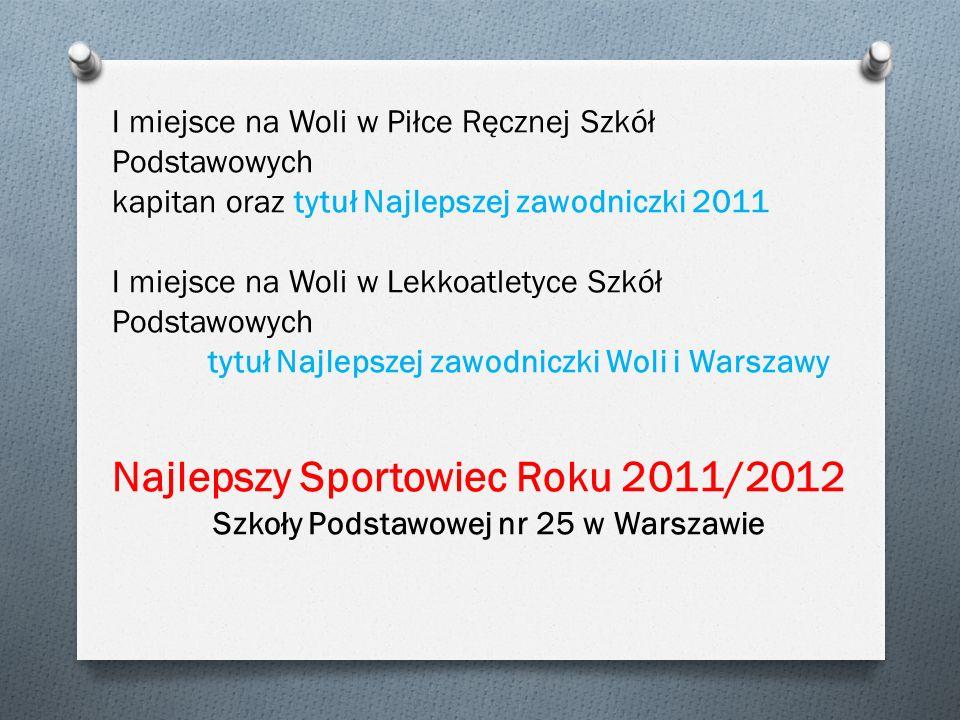 Najlepszy Sportowiec Roku 2011/2012