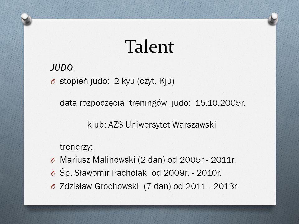 Talent JUDO.