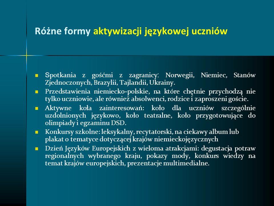 Różne formy aktywizacji językowej uczniów