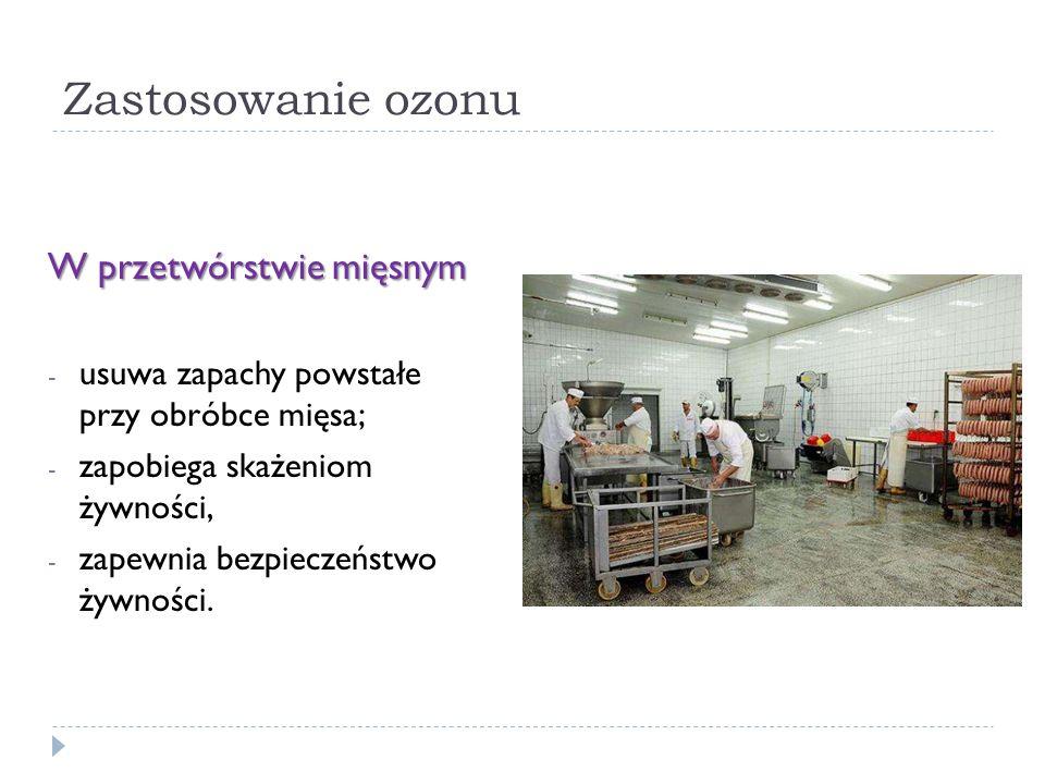 Zastosowanie ozonu W przetwórstwie mięsnym