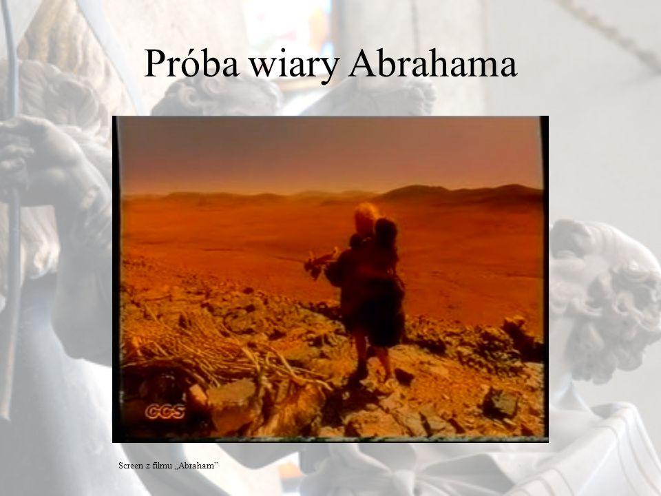"""Próba wiary Abrahama Screen z filmu """"Abraham"""
