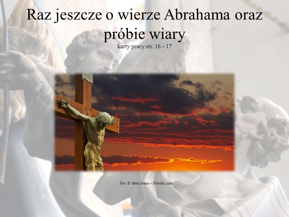 Raz jeszcze o wierze Abrahama oraz próbie wiary karty pracy str