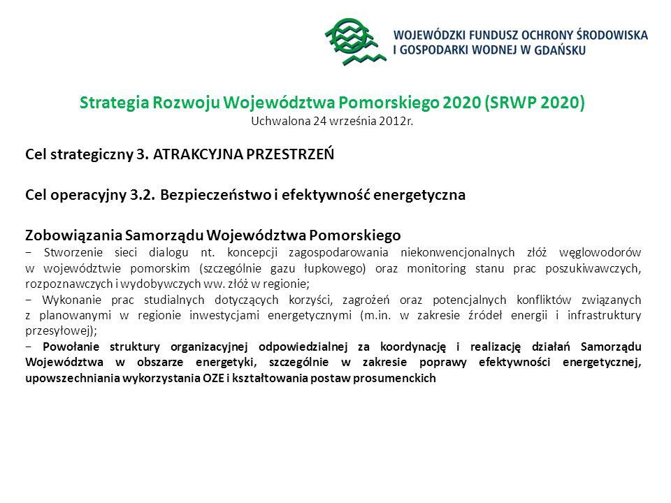 Strategia Rozwoju Województwa Pomorskiego 2020 (SRWP 2020)