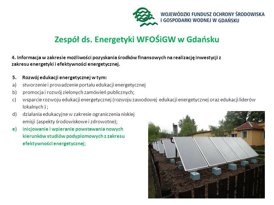 Zespół ds. Energetyki WFOŚiGW w Gdańsku