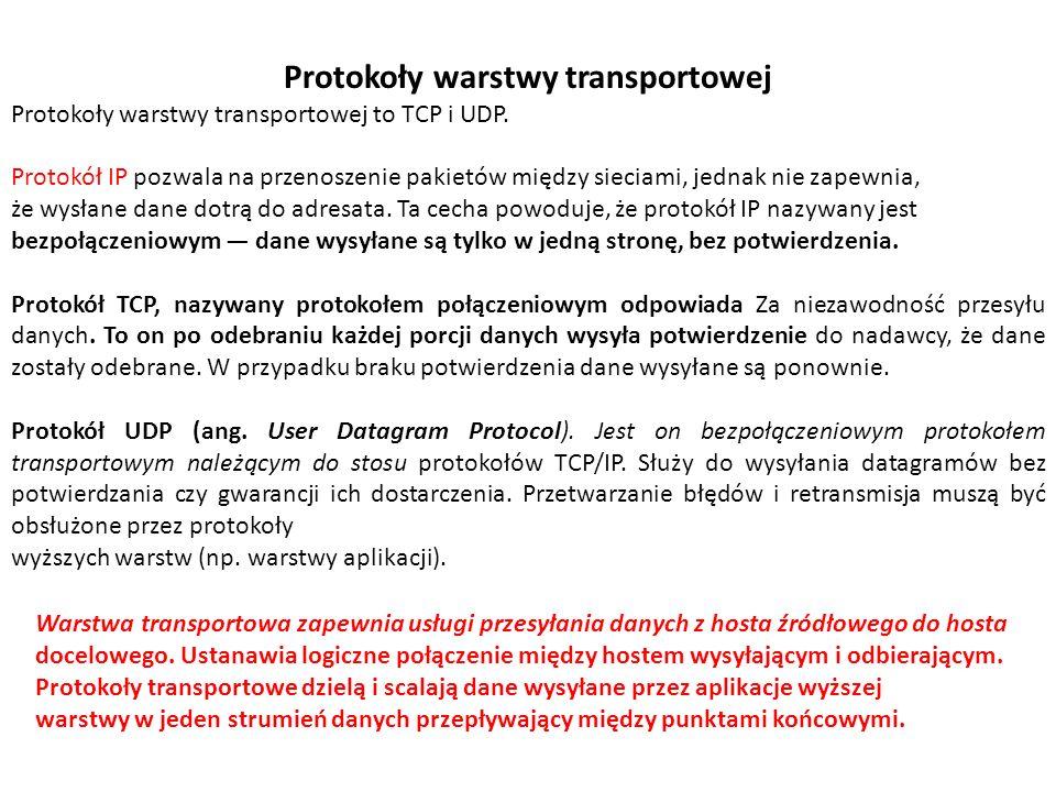 Protokoły warstwy transportowej