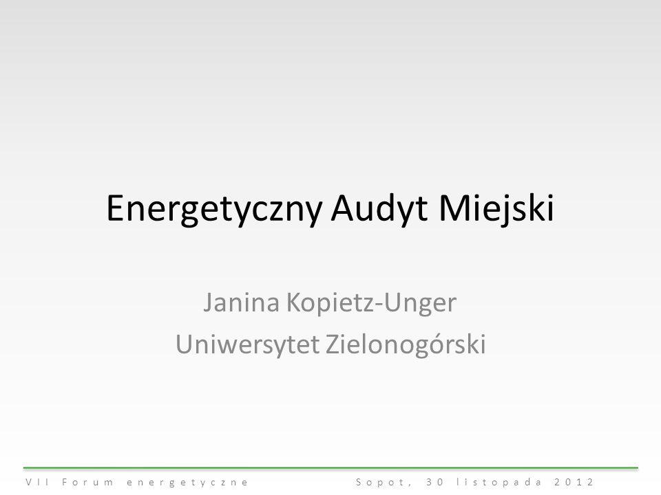 Energetyczny Audyt Miejski