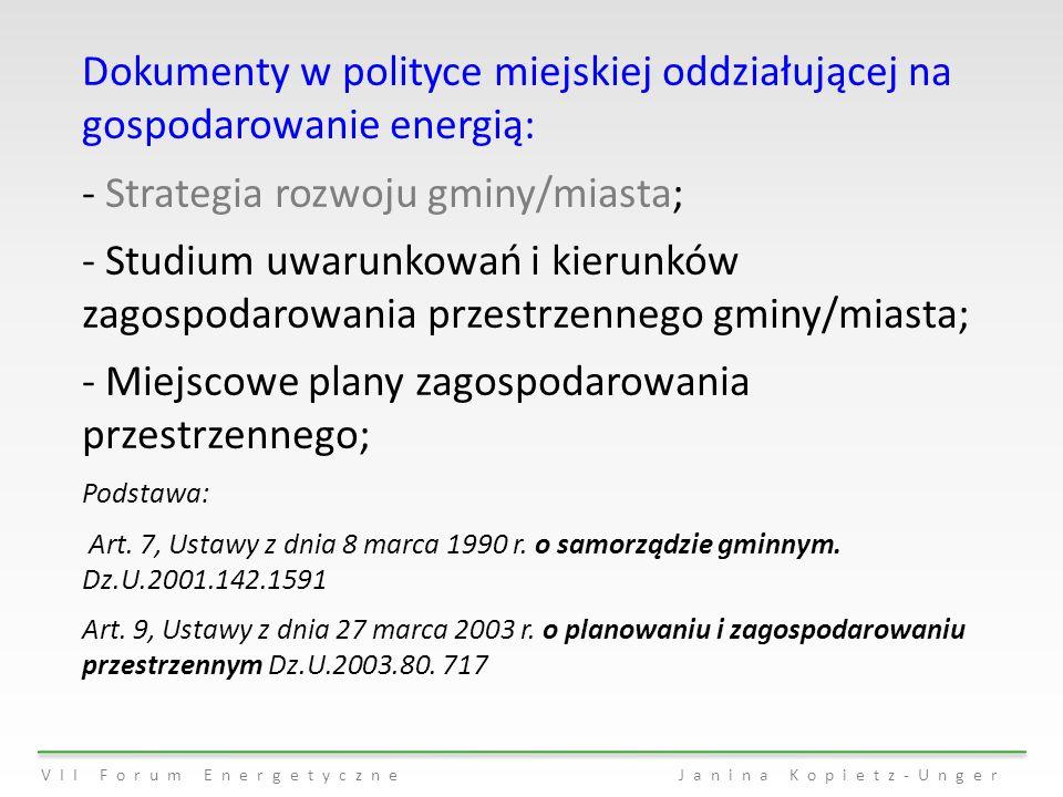 Strategia rozwoju gminy/miasta;