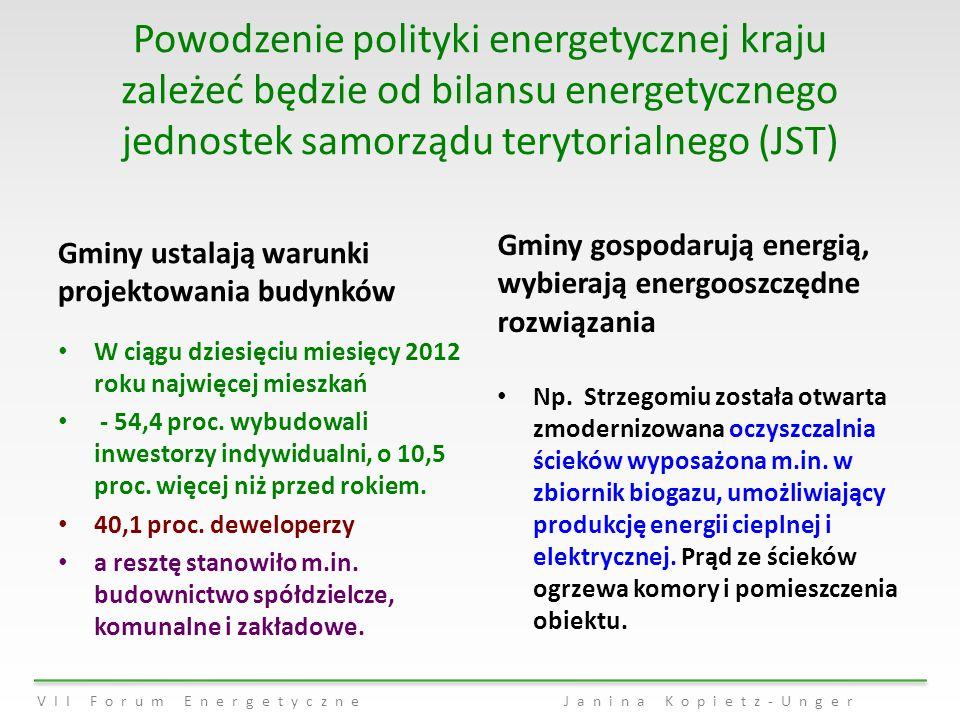 Powodzenie polityki energetycznej kraju zależeć będzie od bilansu energetycznego jednostek samorządu terytorialnego (JST)