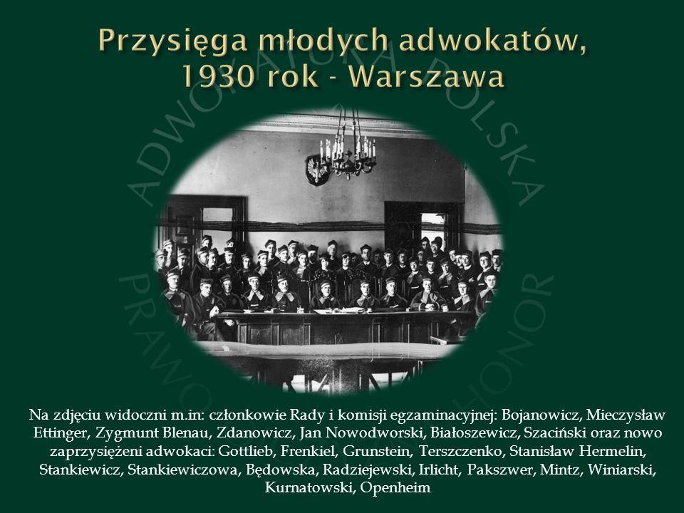 Przysięga młodych adwokatów, 1930 rok - Warszawa
