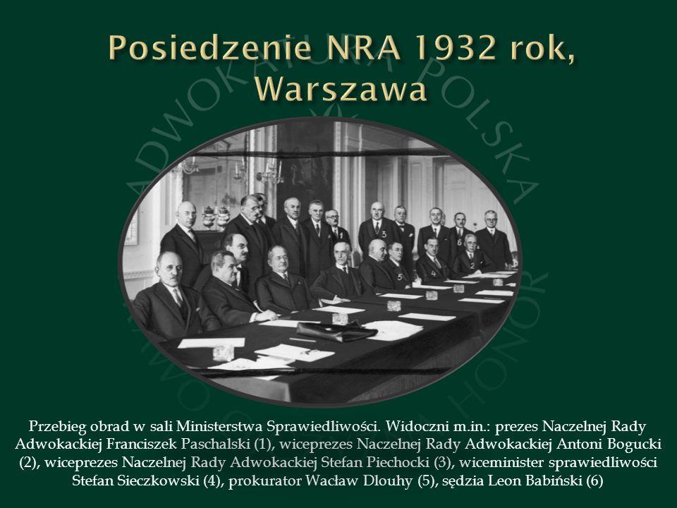 Posiedzenie NRA 1932 rok, Warszawa