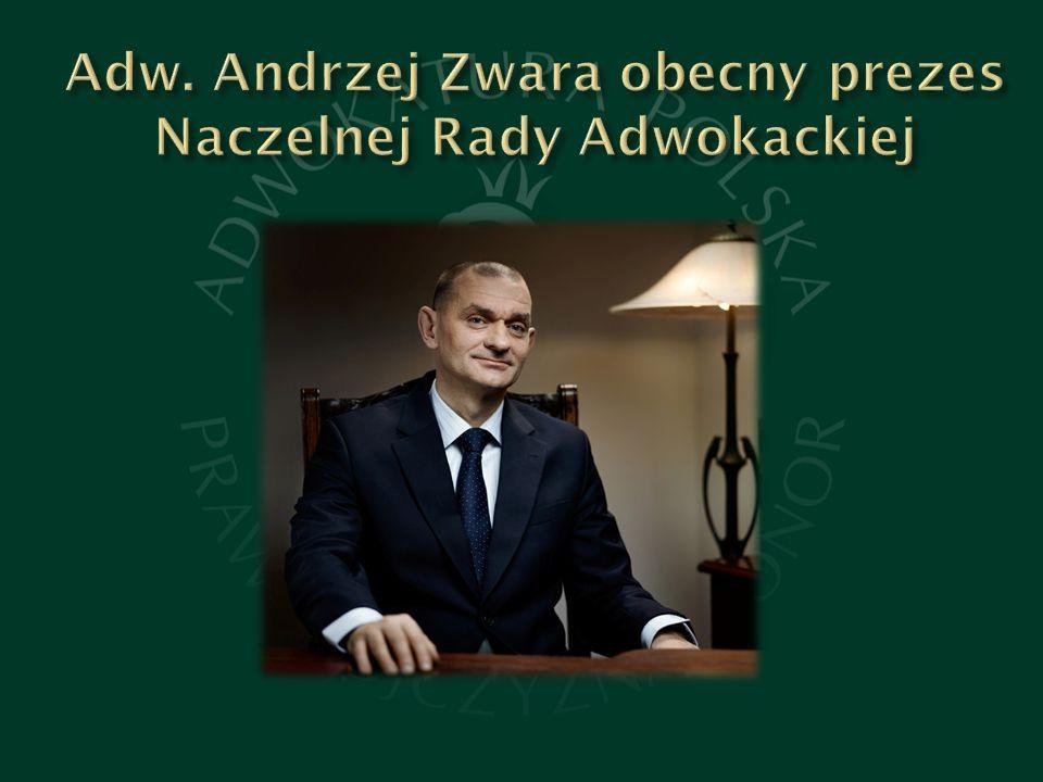 Adw. Andrzej Zwara obecny prezes Naczelnej Rady Adwokackiej
