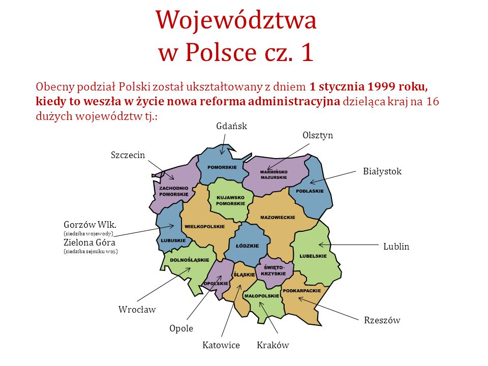 Województwa w Polsce cz. 1