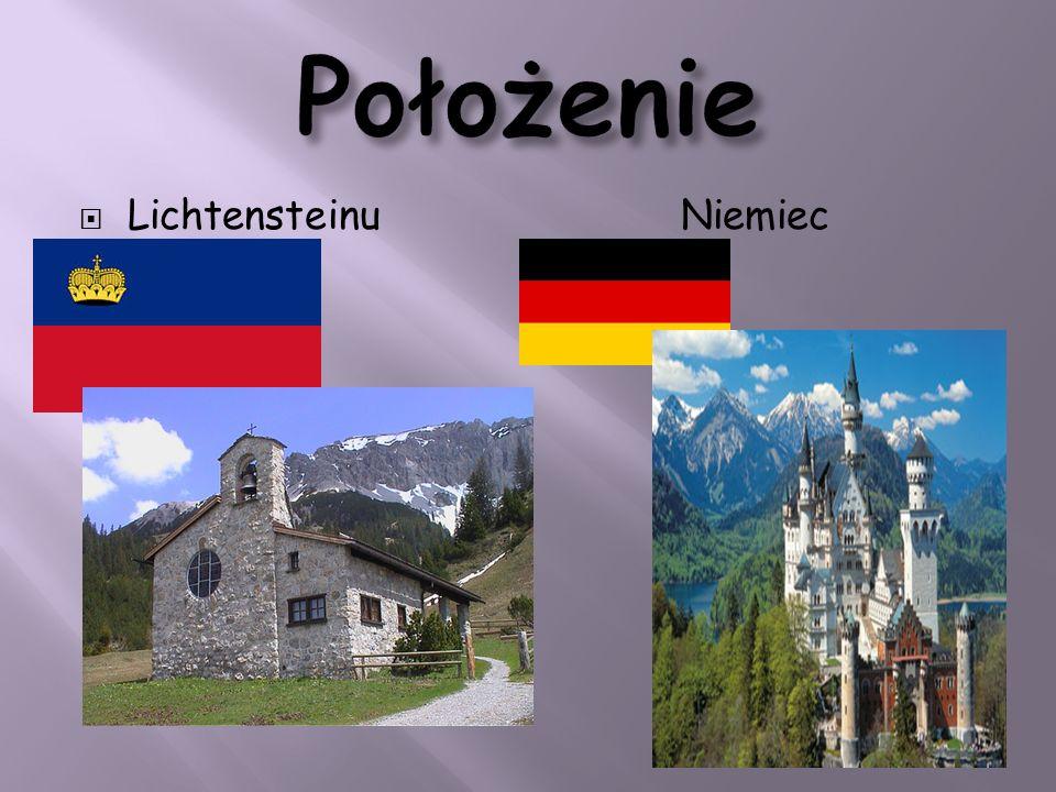 Położenie Lichtensteinu Niemiec