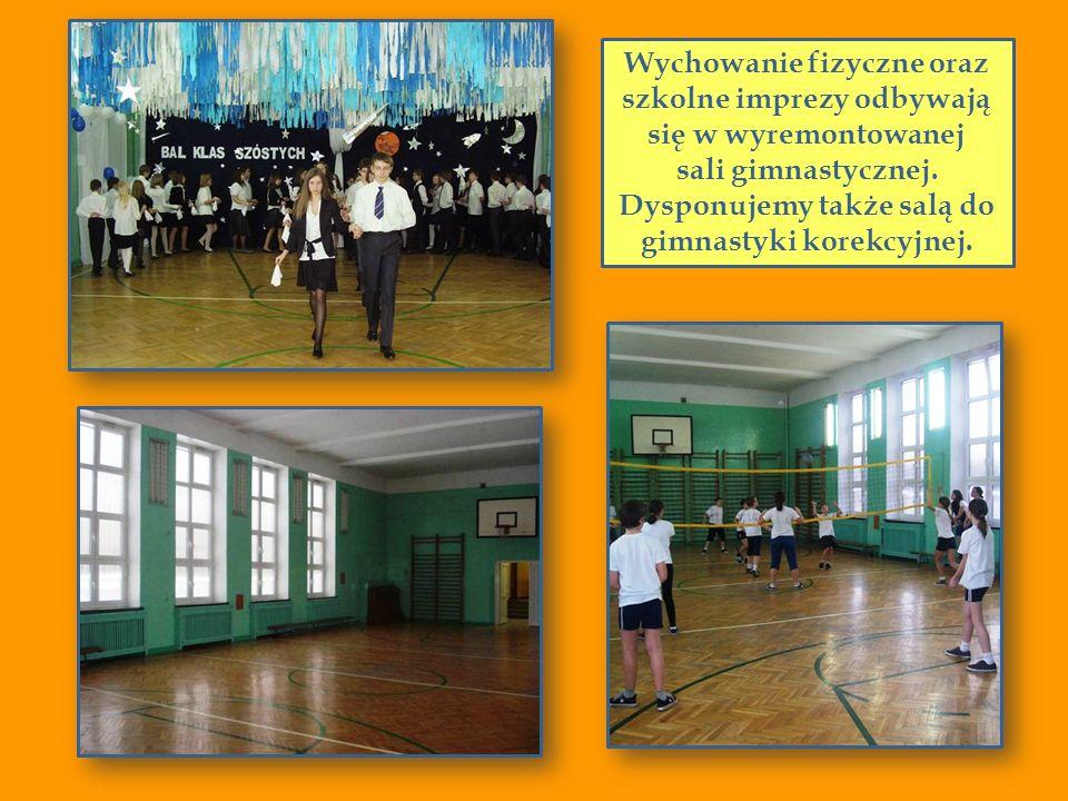 Wychowanie fizyczne oraz szkolne imprezy odbywają się w wyremontowanej