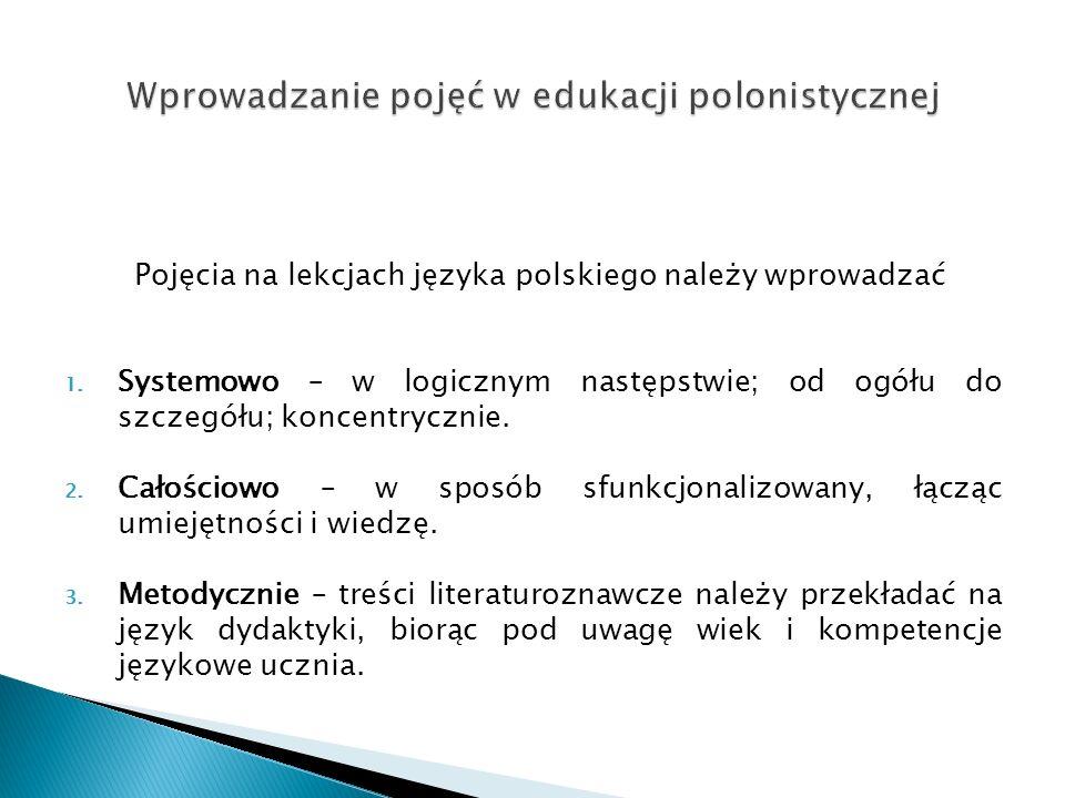 Wprowadzanie pojęć w edukacji polonistycznej