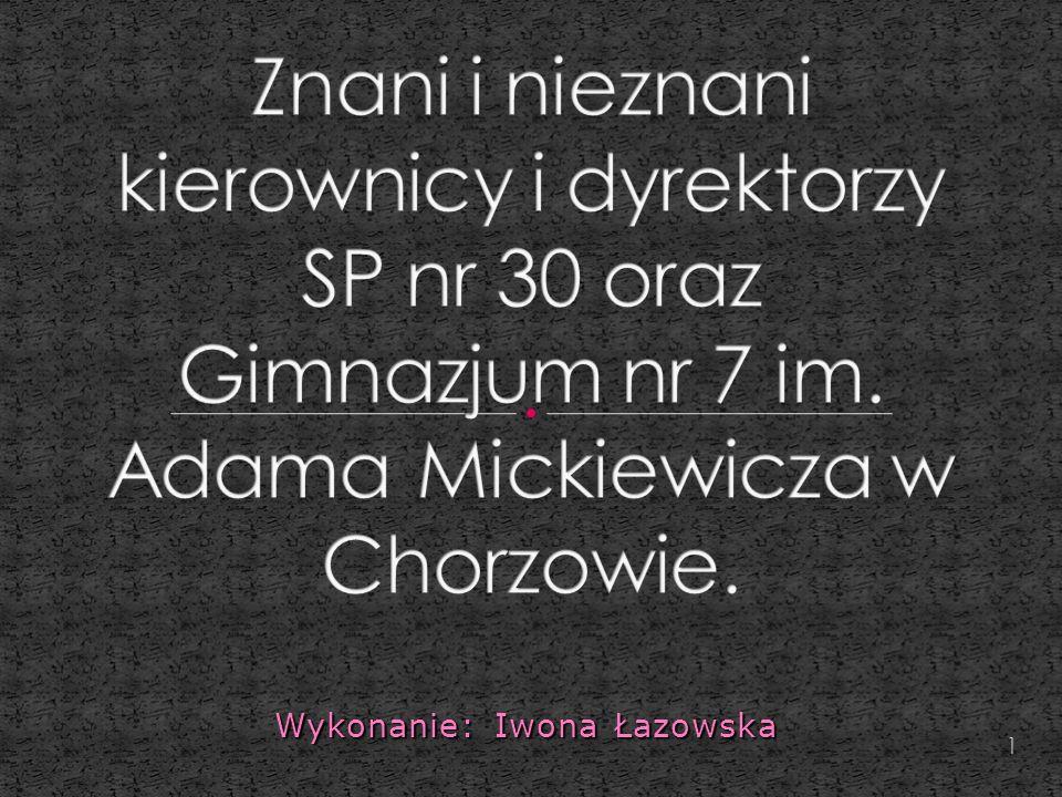 Wykonanie: Iwona Łazowska