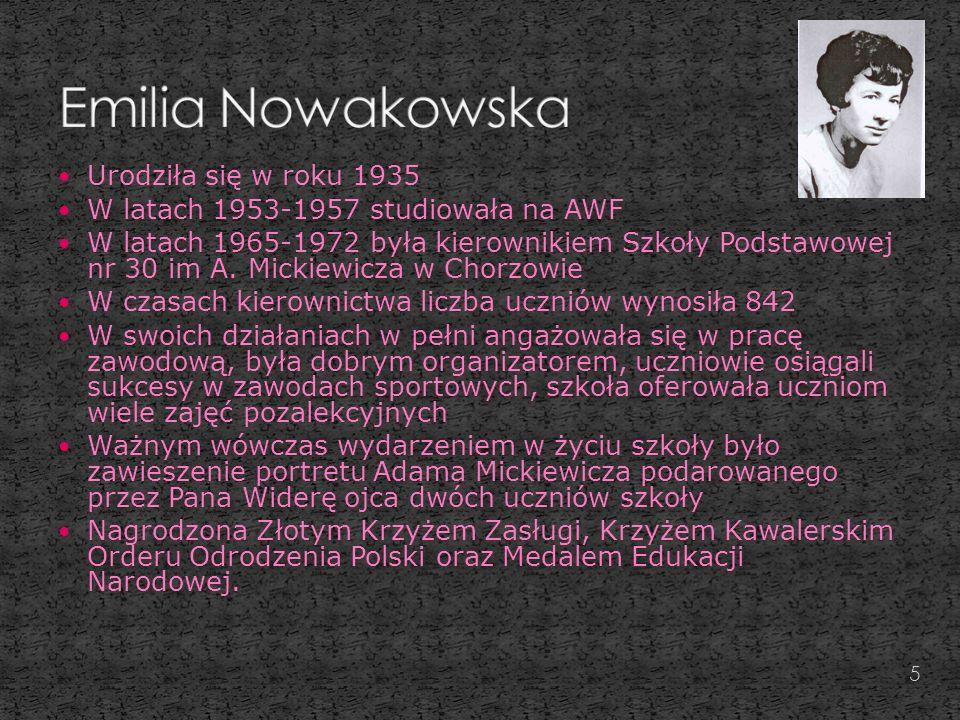 Emilia Nowakowska Urodziła się w roku 1935