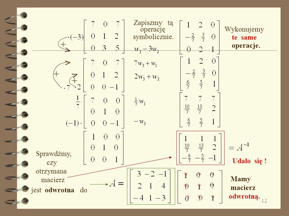+ > > + > + Zapiszmy tą operację symbolicznie. Wykonujemy