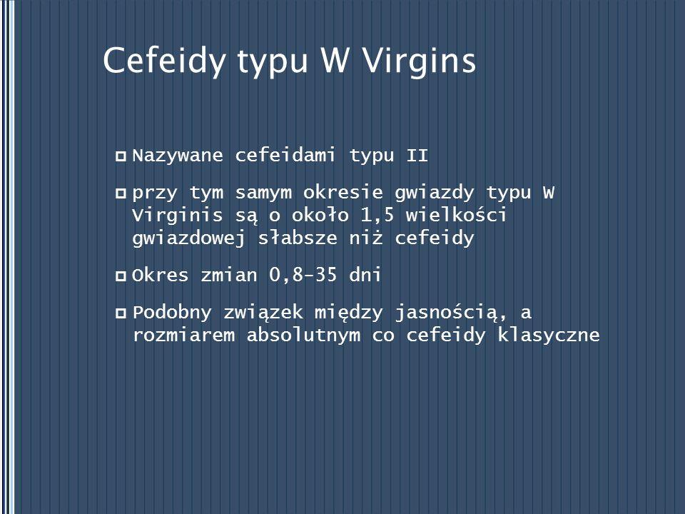 Cefeidy typu W Virgins Nazywane cefeidami typu II