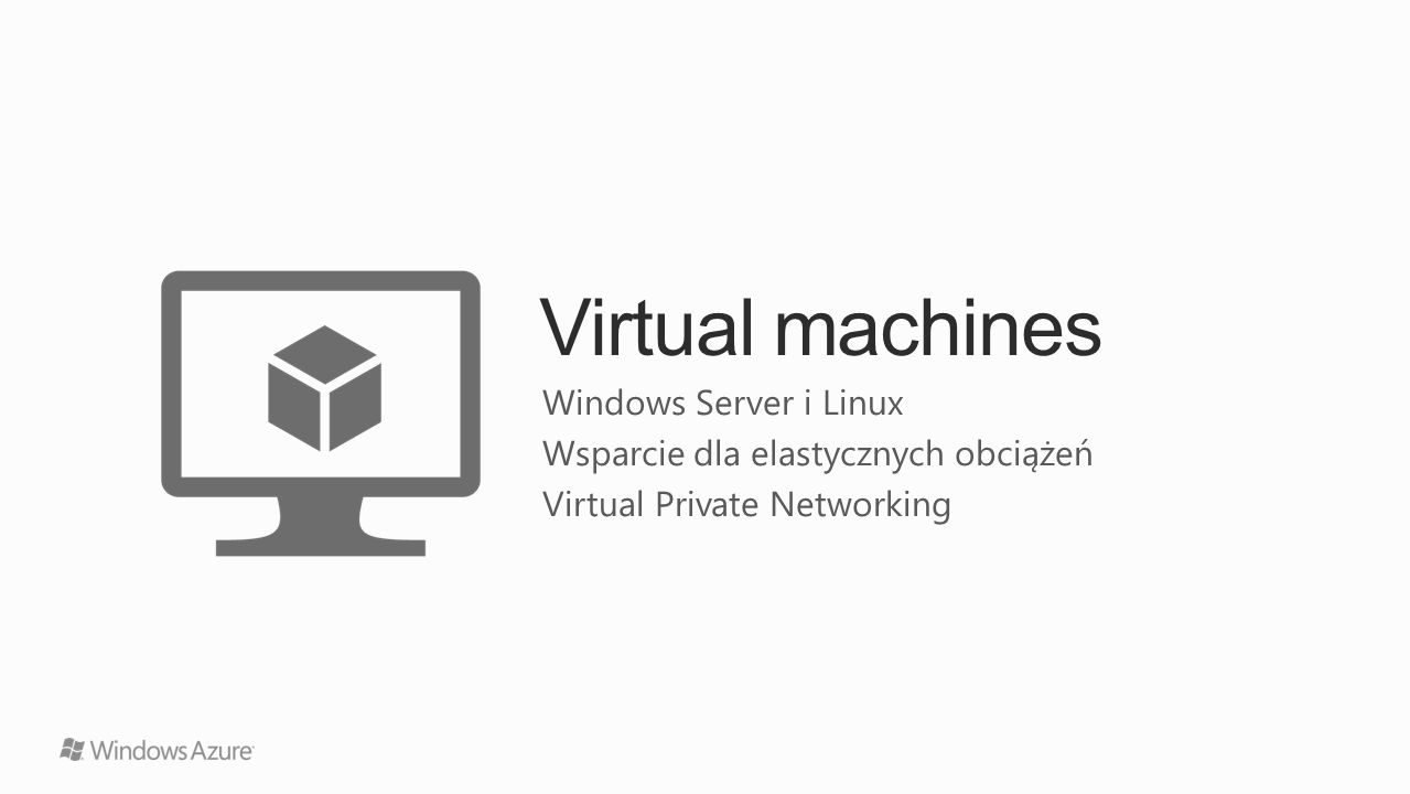 Virtual machines Windows Server i Linux