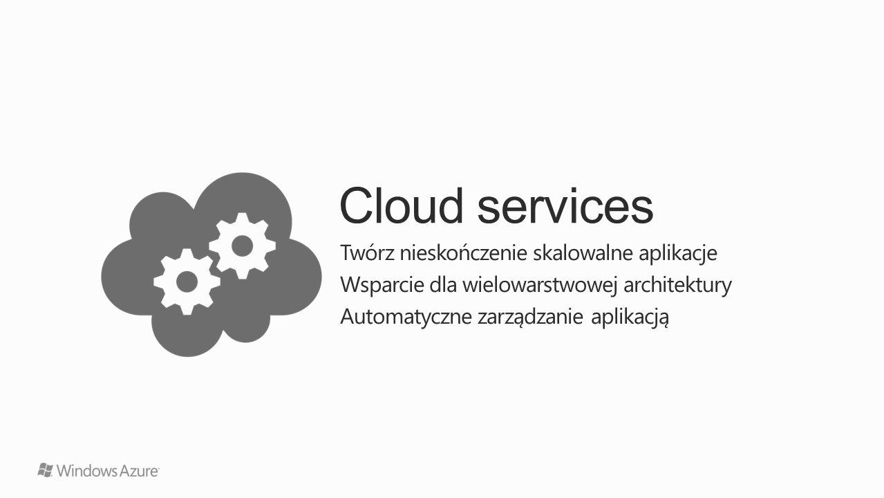 Cloud services Twórz nieskończenie skalowalne aplikacje