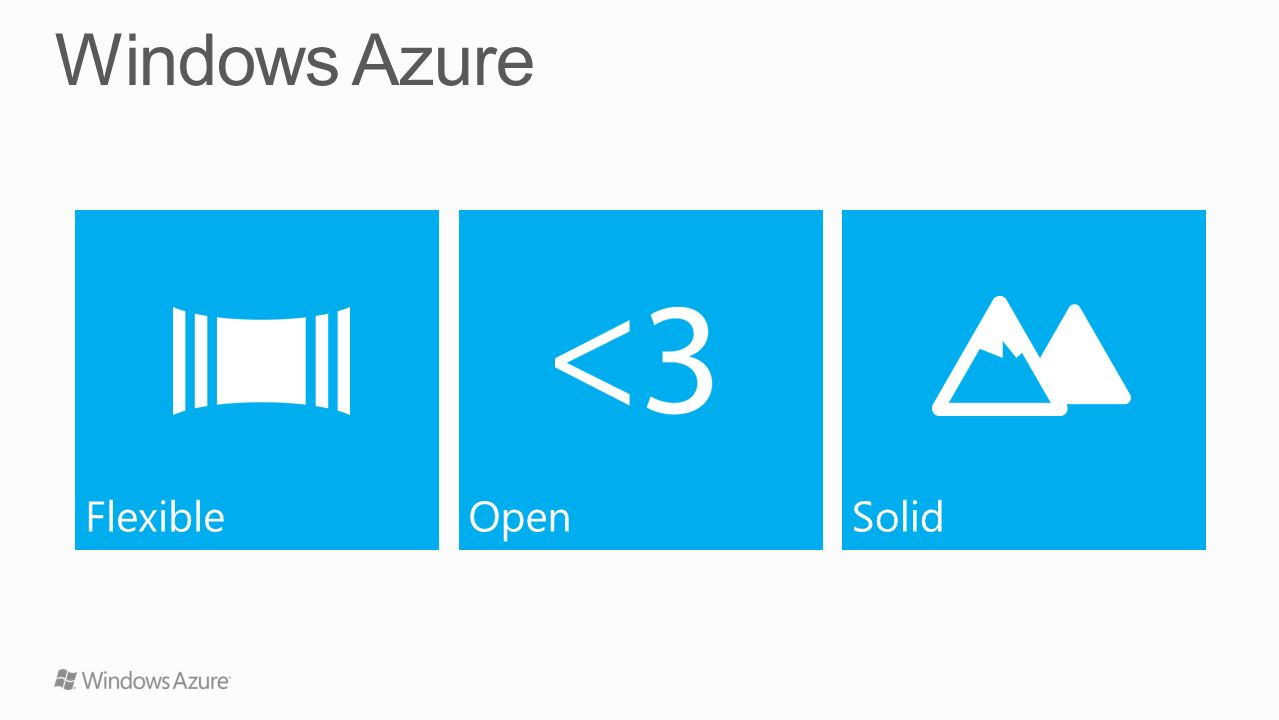 Windows Azure Flexible Open Solid