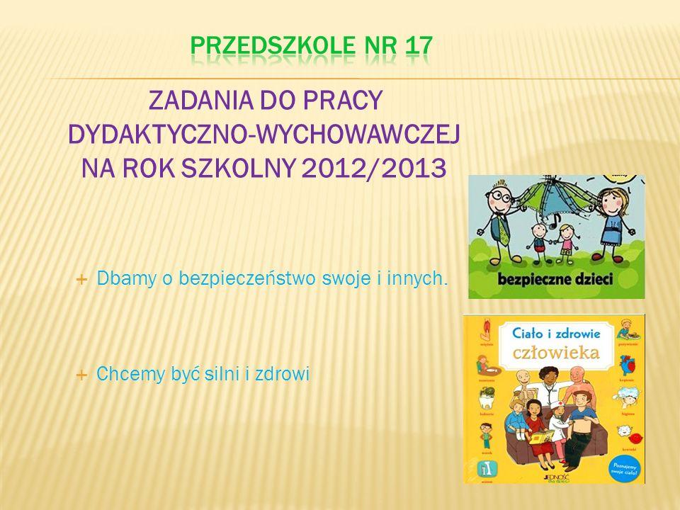 ZADANIA DO PRACY DYDAKTYCZNO-WYCHOWAWCZEJ NA ROK SZKOLNY 2012/2013