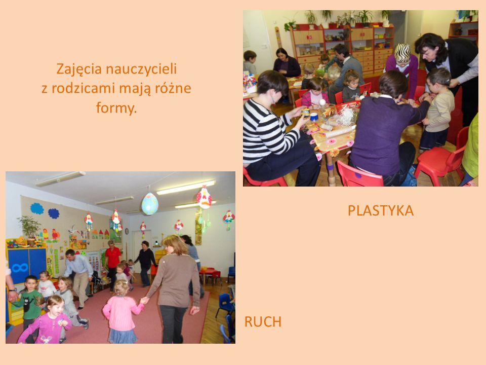 Zajęcia nauczycieli z rodzicami mają różne formy.