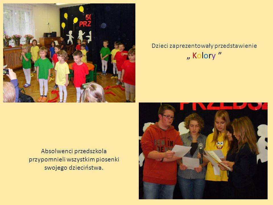 Dzieci zaprezentowały przedstawienie