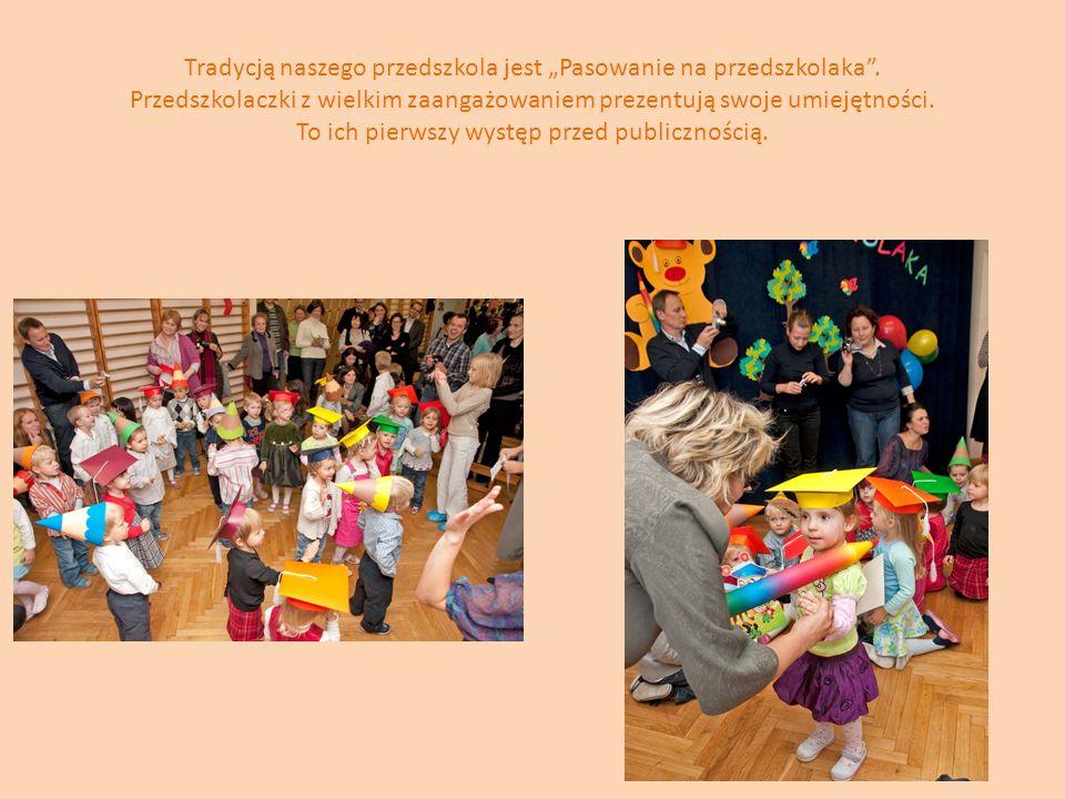 """Tradycją naszego przedszkola jest """"Pasowanie na przedszkolaka"""