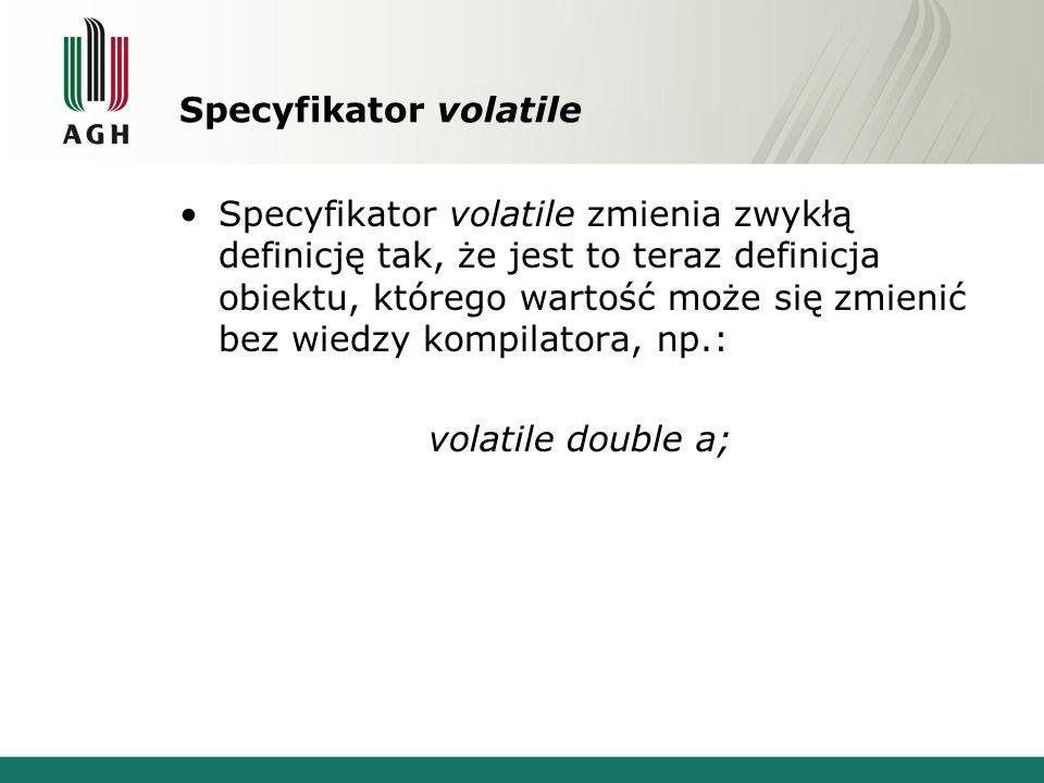 Specyfikator volatile